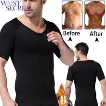WAIST SECRET Men Slimming T-shirt Neoprene Shapers Sweat Wear Summer Suits Gym Weight Loss Shapewear Waist Training Tank Tops