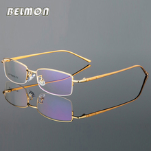 Belmon Spectacle Frame Men Al-MG Eyeglasses Computer Prescription Myopia Optical For Male Eyewear Clear Lens Glasses RS740