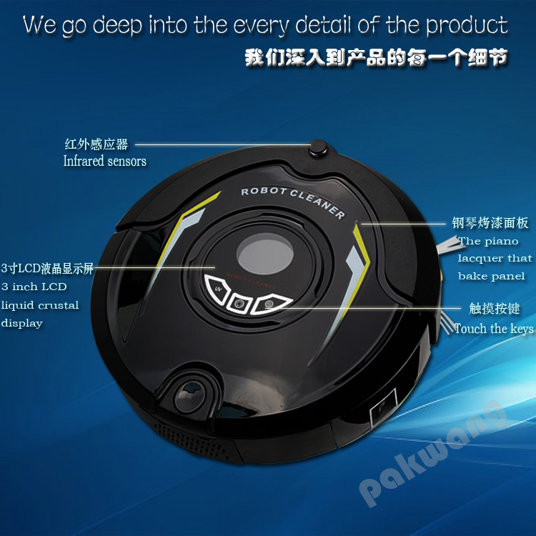 Most Advanced 310C Robot Vacuum Cleaner Multifunction (Sweep,Vacuum,Mop,Sterilize) Home Floor Cleaning Robot, Mother'S Day Gift 2017 most advanced robot vacuum cleaner for home a325 sweep vacuum mop sterilize schedule intelligent home cleaner