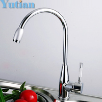 Free Shipping Brand New Zinc Alloy Chromed Kitchen Mixer Hot And Cold Water Kitchen Mixer Faucet