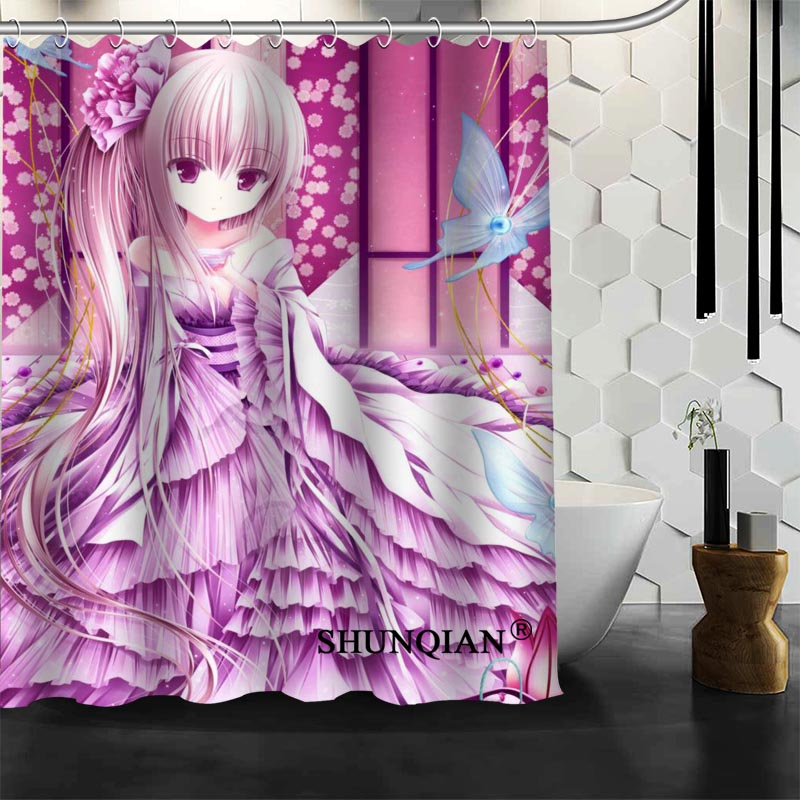 Anime Girls Shower Curtain Customized Bath Curtain Waterproof Polyester  Fabric Curtain For Bathroom In Shower Curtains From Home U0026 Garden On  Aliexpress.com ...