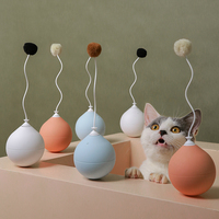 Funny Electric Cat Toy Tumbler Automatic Funny Cat Stick Toys Interactive Pet Dog Cat Machine Toy Game Scratching Butterfly Ball