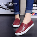 DreamShining Verano Ocasional Suave Patrón de piel de Serpiente Pitón Zapatos Mujeres de Los Planos de Punta Redonda de Las Señoras Se Deslizan En Mocasines mocasines Zapatos