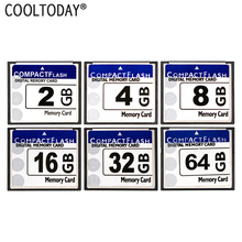 COOLTODAY CF Card Real Storage 2GB 4GB 8GB 16GB 32GB 64GB CF Card Pass H2testw Memory Card Compact Flash Card Class10 for Camera