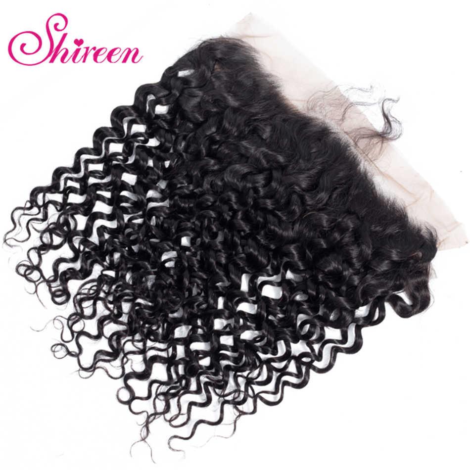 Монгольская причудливая завивка волос пучки с фронтальной 13*4 предварительно сорвал фронтальной Remy 100% человеческие волосы 3 пучка с закрытием шнурка Shireen