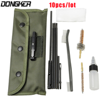 10 CÁI AR15 M16 M4 Gun Cleaning Kit Airsoft Shotgun Pistol Lau cho 5.56 mét. 223 22LR. 22 Cal Tactical Rifle Gun Brushes Set