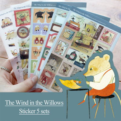 5 Pcs / Pack New Kawaii Planner Stickers The Wind In Willdows Decoration Ablum Photo Stickers / Sticky Note Stationery / Indigo the woman in the photo