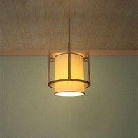 Современный японский стиль подвесной светильник дуб лампа E27 гнездо патрон висит светильник pendientes украшения lamparas