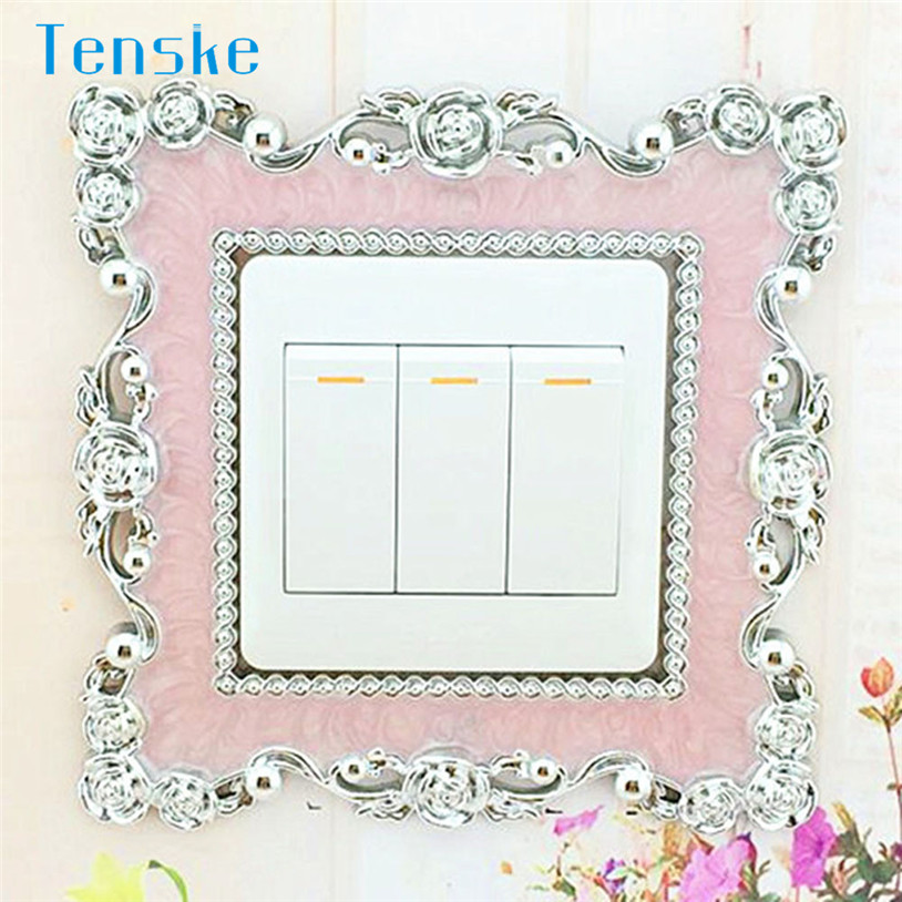 Home Protective Switch Cover Square Shape Switch Wall Light Socket Stickers Home Decoration U70818  RU2