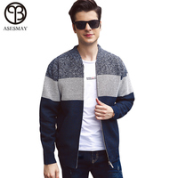 Asesmay 2018 Brand Sweater Men Casual V Neck Pullover Men Autumn Slim Fit Long Sleeve Shirt Male Sweaters Knitted Cashmere Wool