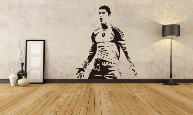 E WALL 5662 Cristiano Ronaldo Football Star Stickers Boys Birthday Gifts School And Children Room Decor Special Wall Decals