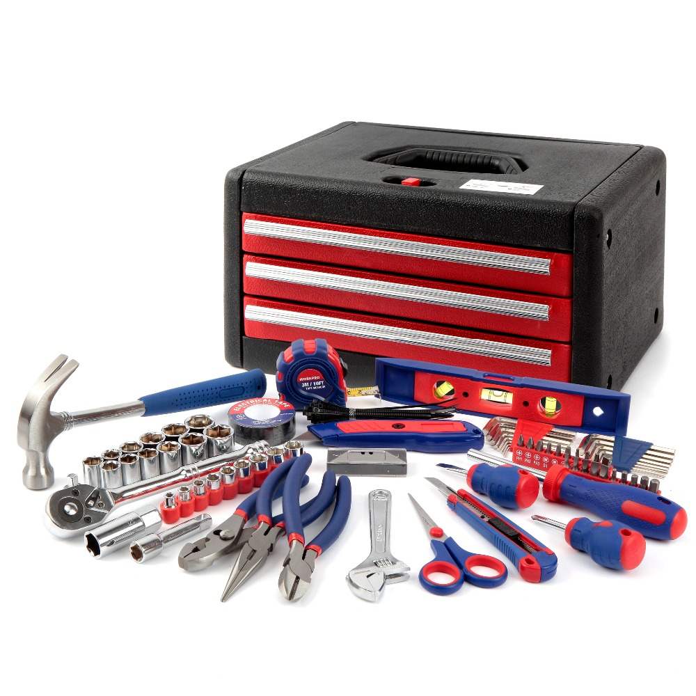 WORKPRO Home Tool Set With Chest General Tool Kit In Tool