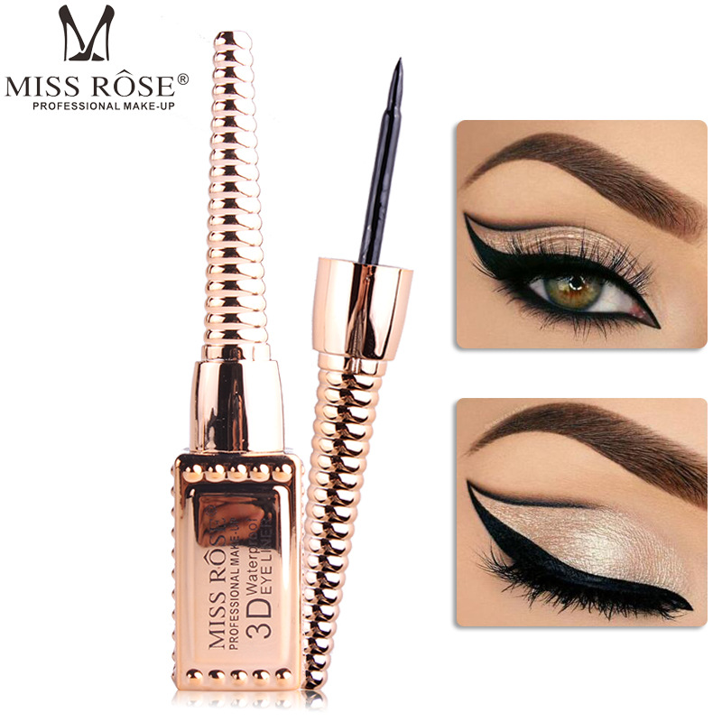 1PCS New Miss Rose Brand Make Up Liquid Eyeliner Pencil Quick Waterproof Eye Fast Dry Black Double Ended Eye Liner Makeup Tools