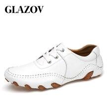 Gazov, zapatos casuales de cuero genuino, mocasines Vintage hechos a mano de primavera para hombres, pisos, gran oferta, nuevo estilo de moda 2019, tallas grandes 38-46