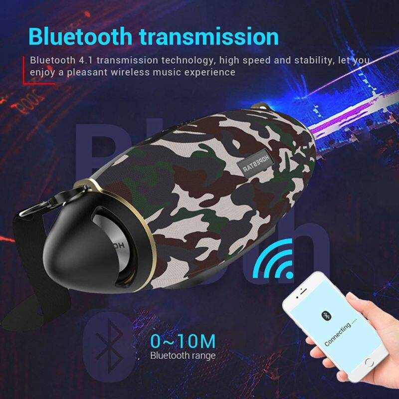 Hopestar H20 Rugby 30W haut-parleur Bluetooth colonne Pc sans fil Portable Mini étanche méga basse stéréo extérieur caisson de basses Tf Usb - 5