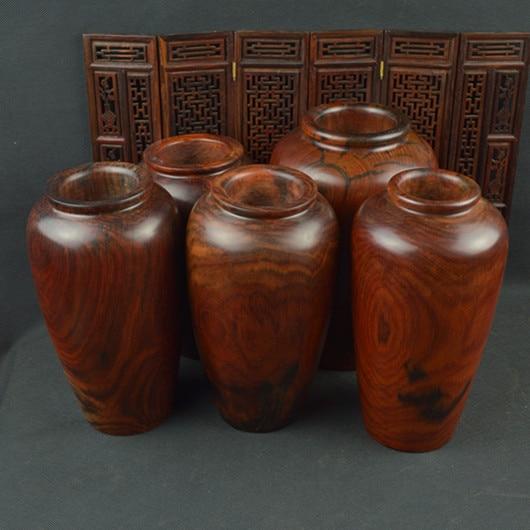 Hong Hao Rui Workers Mahogany Laos Red Wood Vase Pot Flower Vase