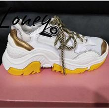 Loney New Quality Genuine Leather Gladiator Lace Up Women Flats Round Toe Breathable Comfortable Casual Shoes Women Spring skyyue new genuine leather lace up women casual flats top quality brand round toe comfortable flats shoes women