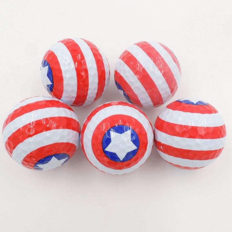 5 Pcs Sports golf balls Two piece ball for golf best gift