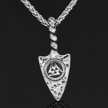 Nordic Viking Odin Gungnir Amulet Valknut Rune Pendant Necklace  Viking Necklace