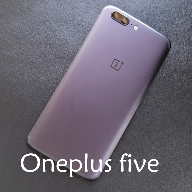 Oneplus five metal battery back cover 1+ 5 black grey back cover with Card slot, lenses . rear cover .