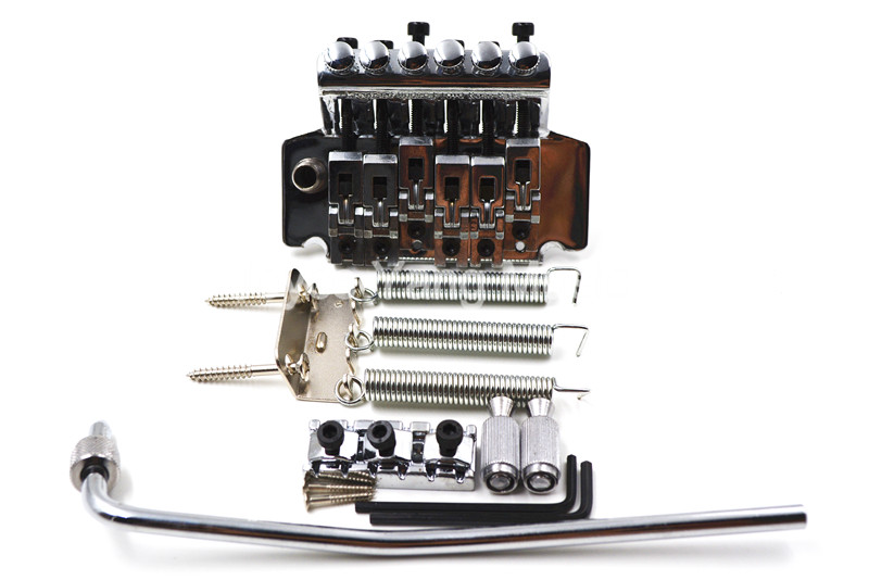 Chrome/Black Vintage Floyd Rose Lic Electric Guitar Tremolo Bridge Double Locking Assembly System Free Shipping Wholesales genuine original floyd rose 5000 series electric guitar tremolo system bridge frt05000 black nickel cosmo without packaging