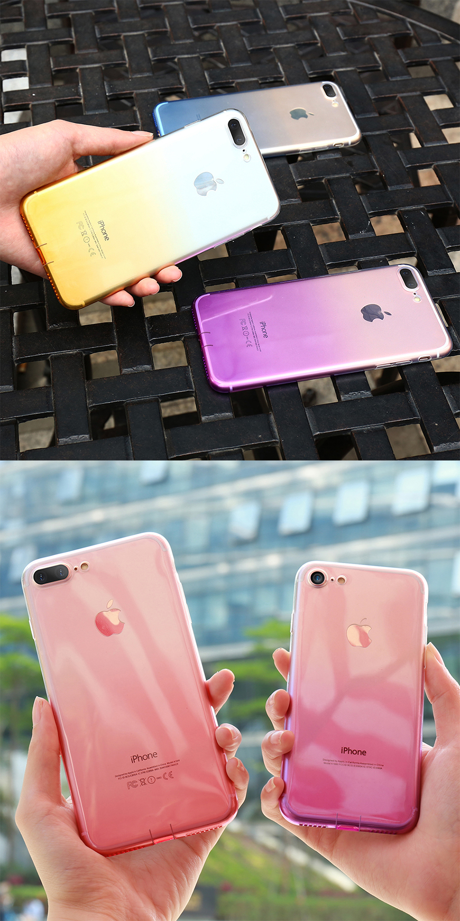 FLOVEME Gradient Phone Case For iPhone 7 6 6S Plus 5 5S SE Luxury Silicon Soft TPU Thin Back Cover For iPhone 5 6S 7 Plus Cases (13)