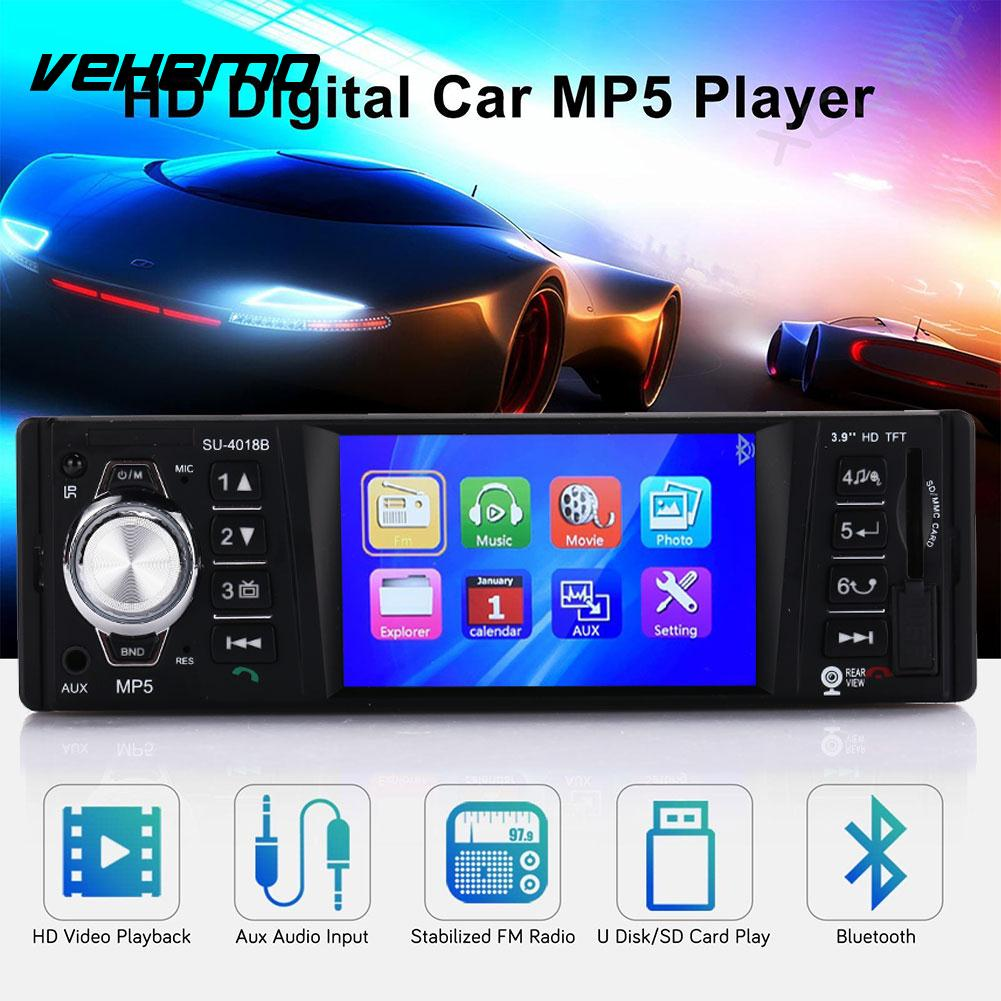 Vehemo 1 Din coloré rétro-éclairage voiture lecteur vidéo FM transmetteur MP5 lecteur voiture MP5 Smart Premium voiture Kit 4018B