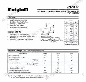 Image 2 - MCIGICM 2N7002 SMD,100 pièces 60V 115mA Triode Transistor smd 2N7002 SOT 23 MOSFET N CHANNEL