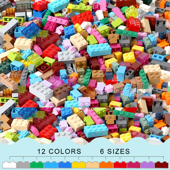 450 piezas diseño de ladrillos creativo clásico ladrillo DIY bloques de construcción juguetes educativos a granel para niños regalo Compatible Legoinglys