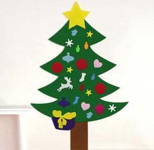 Neue Deluxe Fühlte Weihnachtsbaum Kinder Kleinkind Kids UK Weihnachten Fühlte Baum Tür Wandbehang Vorschule Handwerk Fuzzy Filz