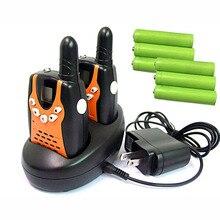 Pair Mini PMR446 Walkie Talkies 2 Method Radios interphone FRS GMRS eight/22 Channels CB Radio Communicator w/ dock Charger Batteries