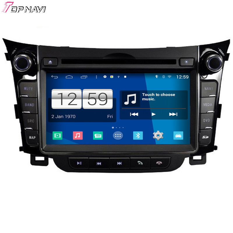 Free Shipping 6.95'' Quad Core S160 Android 4.4 Car DVD GPS For Hyundai I30 2013 With BT Wifi Stereo Radio Video Mirror Link