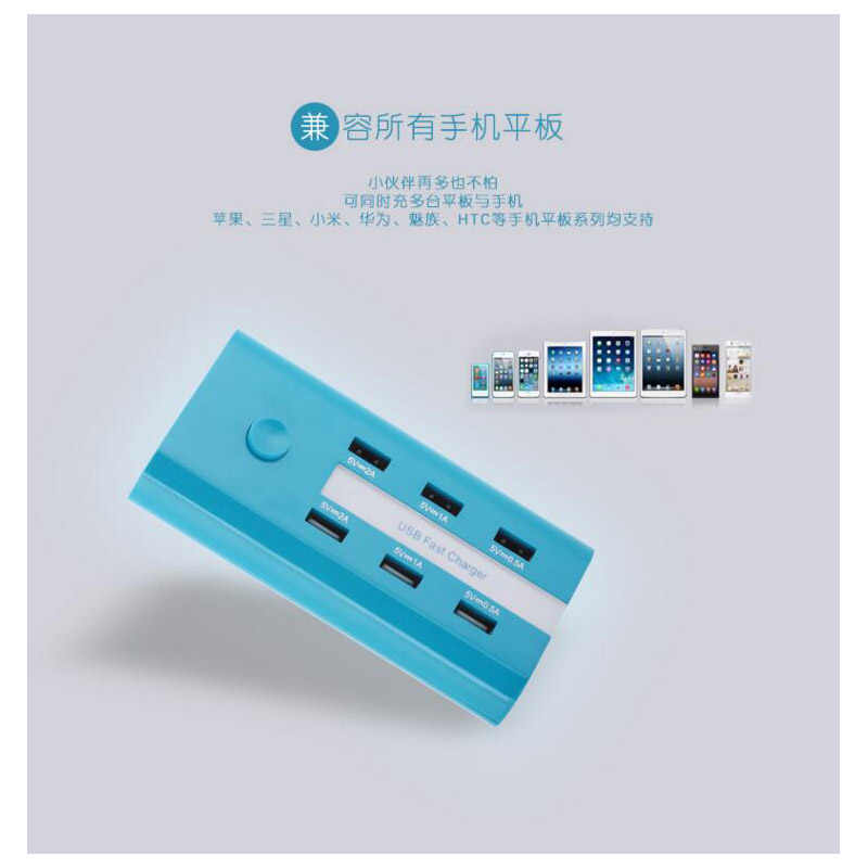 Wtyczka US/EU/UK 6 porty USB do ładowania 5A zasilanie prądem zmiennym gniazda ścienne taśma USB Hub pulpit standardowa wtyczka elektryczna