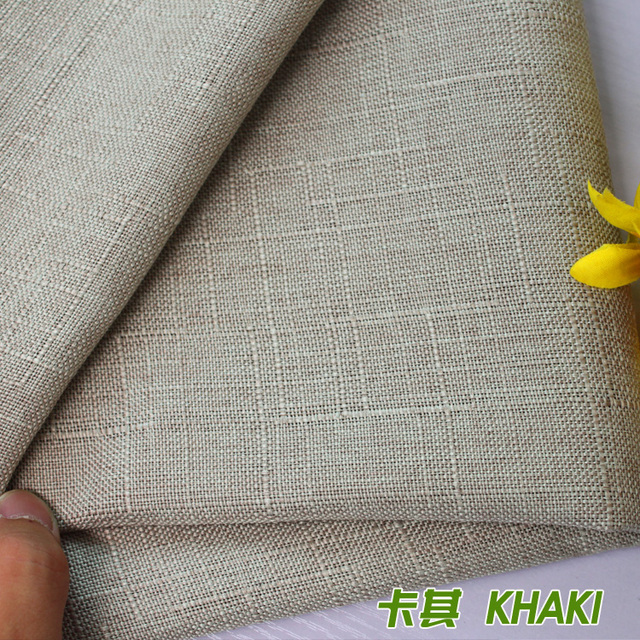 Charmant Khaki Compound Lining Linen Fabric Sofa Cushion Fabirc Sewing Cloth Outdoor  Linen Blend Fabric Upholstery 58