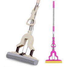 Floor Cleaning Slippers Lijm Katoen Mop Spons Mop Twist De Water Mop Microvezel Nozzle Platte Gedraaid Spray Self-knijpen(China)