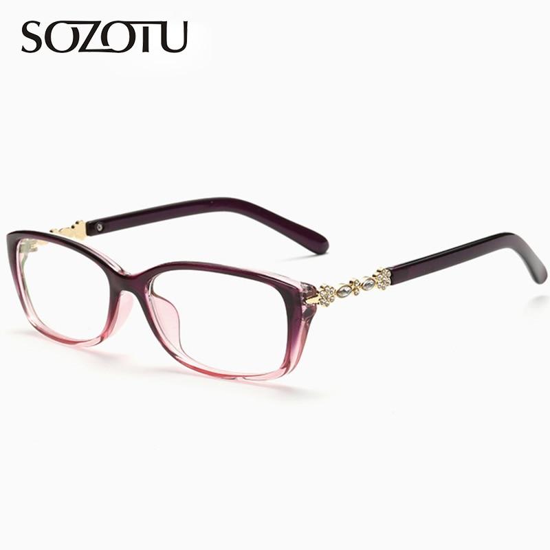Moda óptica gafas marco mujer ordenador gafas de marca Marco de ...