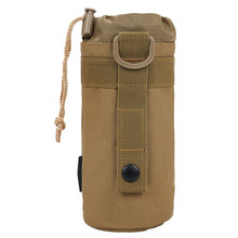 Outdoors Sport Travel Camping Cycling Riding backpacking Fishing Tactical Kettle Package Bicycle Bike Water bag Khaki and Blck