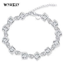 New Glamour AAA CZ Zircon Bracelets Fashion Luxury Crystal Bracelet For Women Gifts Hot Sale High Quality Wedding Bride Jewelry