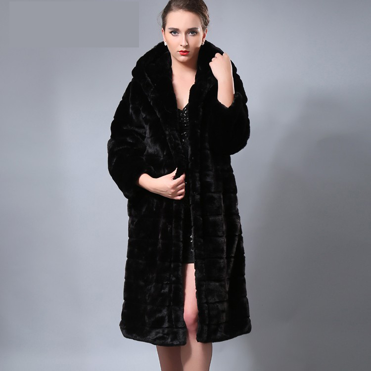 Long Black Faux Fur Coat | Fashion Women's Coat 2017
