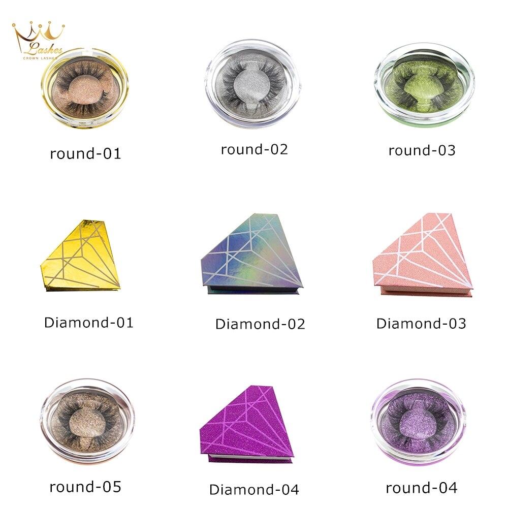 Corona Ciglia Lussociglia Di Visone 3d Ciglia Naturale Di Spessore Ciglia Di Diamante Scatola Di Ciglia