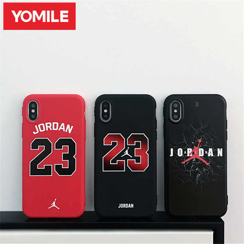 b447221e9d YOMILE Jordan Phone Case for iphone X XR XS MAX Jump Man Back Soft Cover For
