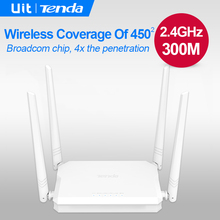 Tenda FH450 300Mbps Wireless Router Superior Broadcom Chip 4 5dBi antenna 2x Through wall Ability Stronger