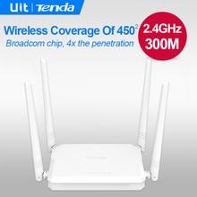 Tenda FH450 300 Мбит/С Беспроводной Маршрутизатор, Broadcom Чип, 4 * 5dBi антенна, 2x Через стену Способности, Сильнее и Шире Wi-Fi Сигнала