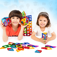 Mini 3 Styles Magnetic Construction Models Building Blocks Toys DIY 3D Magnetic Designer Learning Educational Bricks