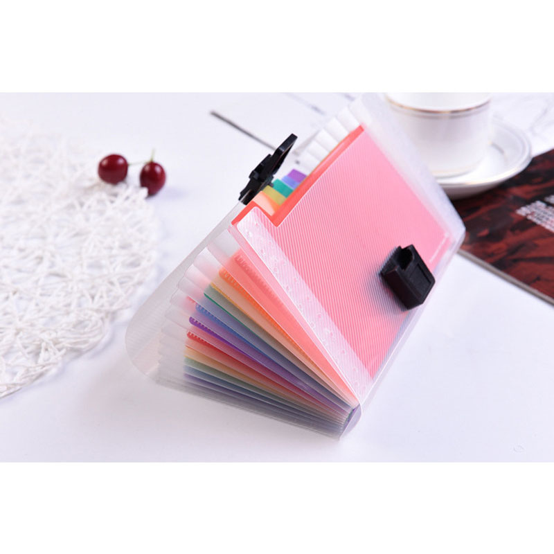 NEW Office School Supplies 13 Pages A6 Folder File Case High Quality Document Organize Storage Bag For Business School
