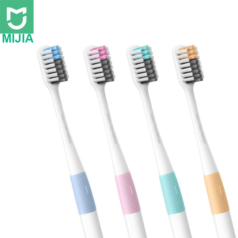 Xiaomi Mijia Smart Home Tools Doctor B Bass Method Tooth-brush 4 Colors/set No Travel Box Toothbrush Ready Stock