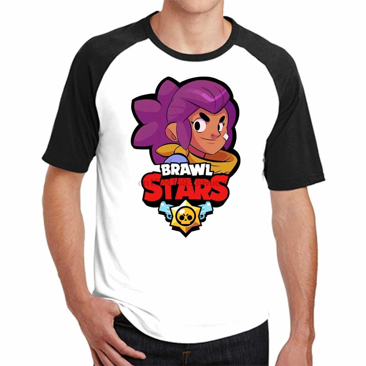 91035ae874f Mens Designer T Shirts Sale 2019 Shelly Brawl Stars Men Tee Shirt Online  Summer Mens Black