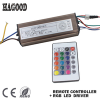 50 W RGB LED Driver Waterdichte IP66 AC85-265V DC18-28V Licht Transformator Externe Aluminium Case + Afstandsbediening voor Lampen