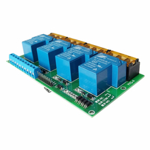 цена на Four-way relay module / control board / optocoupler isolation / single chip / plc amplification / high power 30A