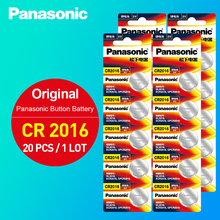 Panasonic 20pcs 3V Lithium Coin Cells Button Battery DL2016 KCR2016 CR2016 LM2016 BR2016 High Energy Density